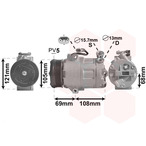 Kompresor klimatyzacji VAN WEZEL 3700K138