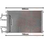 Chłodnica klimatyzacji - skraplacz VAN WEZEL 43005305