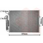 Chłodnica klimatyzacji - skraplacz VAN WEZEL 43005454