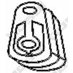 Pasek gumowy systemu wydechowego BOSAL 255-052
