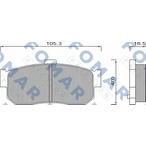 KLOCKI HAMULCOWE NISSAN 100/ PRIMERA GR.16,5MM /TYL/* FOMAR FOMAR FRICTION FO 488981