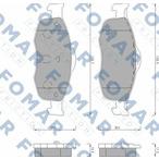 Klocki hamulcowe - komplet FOMAR FRICTION FO 491681