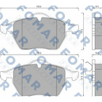 Klocki hamulcowe - komplet FOMAR FRICTION FO 625181