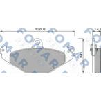 Klocki hamulcowe - komplet FOMAR FRICTION FO 625581