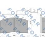 Klocki hamulcowe - komplet FOMAR FRICTION FO 628281