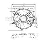 Wentylator chłodnicy silnika TYC 803-0011