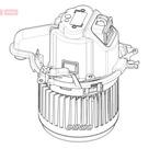 Wentylator wnętrza - dmuchawa DENSO DEA23022