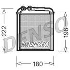 Nagrzewnica ogrzewania kabiny DENSO DRR32005