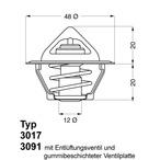 Termostat układu chłodzenia WAHLER 3017.92D2