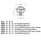 Termostat układu chłodzenia WAHLER 4256.87D50