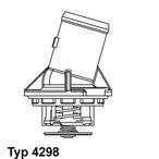 Termostat układu chłodzenia WAHLER 4298.87D