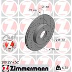 Tarcza hamulcowa ZIMMERMANN 200.2514.52
