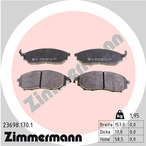 Klocki hamulcowe - komplet ZIMMERMANN 23698.170.1