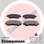 Klocki hamulcowe - komplet ZIMMERMANN 24632.170.1