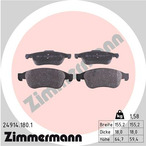 Klocki hamulcowe - komplet ZIMMERMANN 24914.180.1