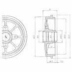 Bęben hamulcowy DELPHI BF393