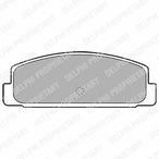 Klocki hamulcowe - komplet DELPHI LP1766