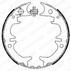 Szczęki hamulcowe hamulca postojowego - komplet DELPHI LS1901
