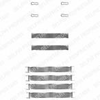 Zestaw akcesoriów klocków hamulcowych DELPHI LX0019