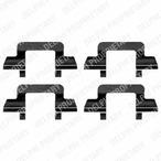 Zestaw akcesoriów klocków hamulcowych DELPHI LX0365