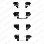 Zestaw akcesoriów klocków hamulcowych DELPHI LX0403