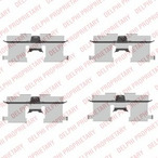 Zestaw akcesoriów klocków hamulcowych DELPHI LX0407