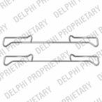 Zestaw akcesoriów klocków hamulcowych DELPHI LX0436