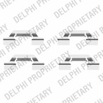 Zestaw akcesoriów klocków hamulcowych DELPHI LX0438