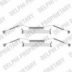 Zestaw akcesoriów klocków hamulcowych DELPHI LX0439