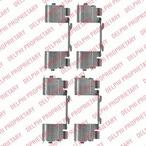 Zestaw akcesoriów klocków hamulcowych DELPHI LX0479
