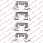 Zestaw akcesoriów klocków hamulcowych DELPHI LX0507
