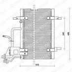 Chłodnica klimatyzacji - skraplacz DELPHI TSP0225011