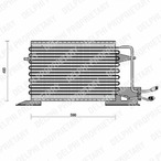 Chłodnica klimatyzacji - skraplacz DELPHI TSP0225028