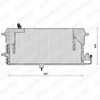 Chłodnica klimatyzacji - skraplacz DELPHI TSP0225073
