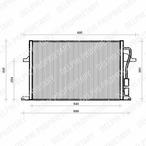 Chłodnica klimatyzacji - skraplacz DELPHI TSP0225112