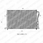 Chłodnica klimatyzacji - skraplacz DELPHI TSP0225275
