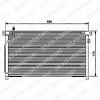 Chłodnica klimatyzacji - skraplacz DELPHI TSP0225440