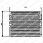 Chłodnica klimatyzacji - skraplacz DELPHI TSP0225449