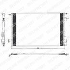 Chłodnica klimatyzacji - skraplacz DELPHI TSP0225463