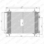 Chłodnica klimatyzacji - skraplacz DELPHI TSP0225548