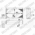 Parownik klimatyzacji DELPHI TSP0525182