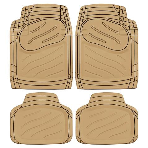 Uniwersalne dywaniki gumowe (4 szt, beżowe) POLGUM - PRZÓD 70,5 X 50 TYŁ 41,5 X 47 POLGUM TS1810PB