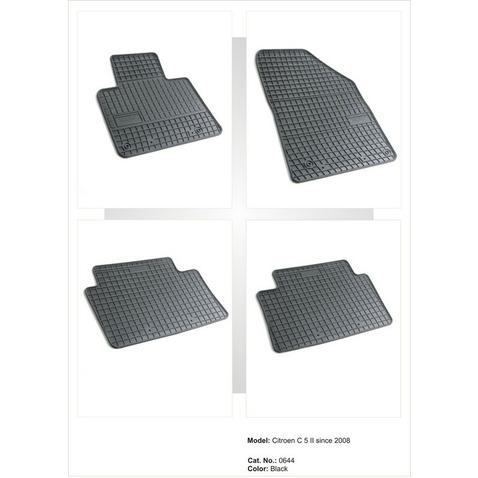 CITROEN C5 II dywaniki gumowe (4 szt, czarne) FROGUM