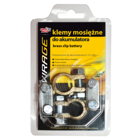 Klemy mosiężne do akumulatora (komplet - 2szt ) AMTRA 93-003