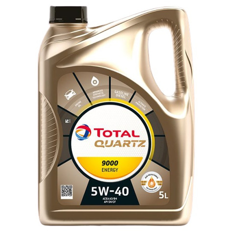 Olej TOTAL Quartz Energy 9000 5W40 5 litrów TOTAL 5W40/5/QUARTZENERGY9000