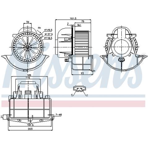 Silnik elektryczny, dmuchawa wewnętrzna NISSENS 87139