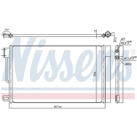 Chłodnica klimatyzacji - skraplacz NISSENS 94973