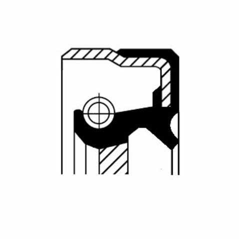 Pierscień uszczelniający wału skrzyni biegów CORTECO 01019885B