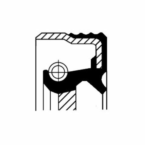 Uszczelniacz na wałek pośredni skrzyni biegów CORTECO 20026419B