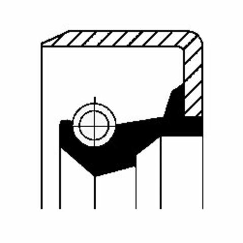 Pierscień uszczelniający wału skrzyni biegów CORTECO 12011487B